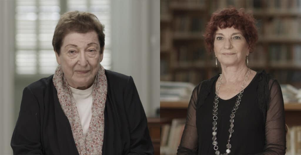 חנה הרצוג ונעמי חזן מתוך צילומי הסדרה. צילום: טניה איזיקוביץ'
