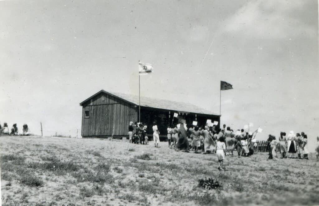 חגיגות יום העצמאות בבית ספר בשדרות, 1953